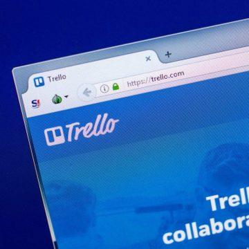 trello on a computer screen